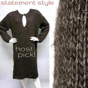 MES DEMOISELLES Soft HAIRY Sweater Dress OS M L XL